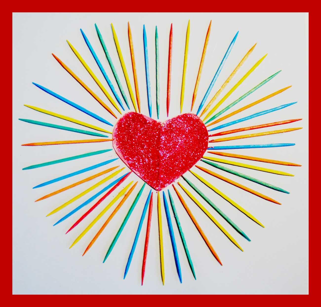 Toothpick Art Valentine S Heart Abrakadoodle