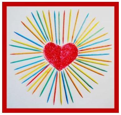 Toothpick Art Valentine's Heart
