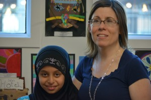 Student and teacher share a special moment