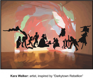 Kara Walker is an African American artist featured in Abrakadoodle's art education program.