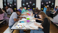 Students enjoyed painting their own creations.