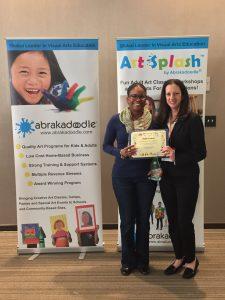Ceneetra Anderson accepts her Splat Award from Rosemarie Hartnett.