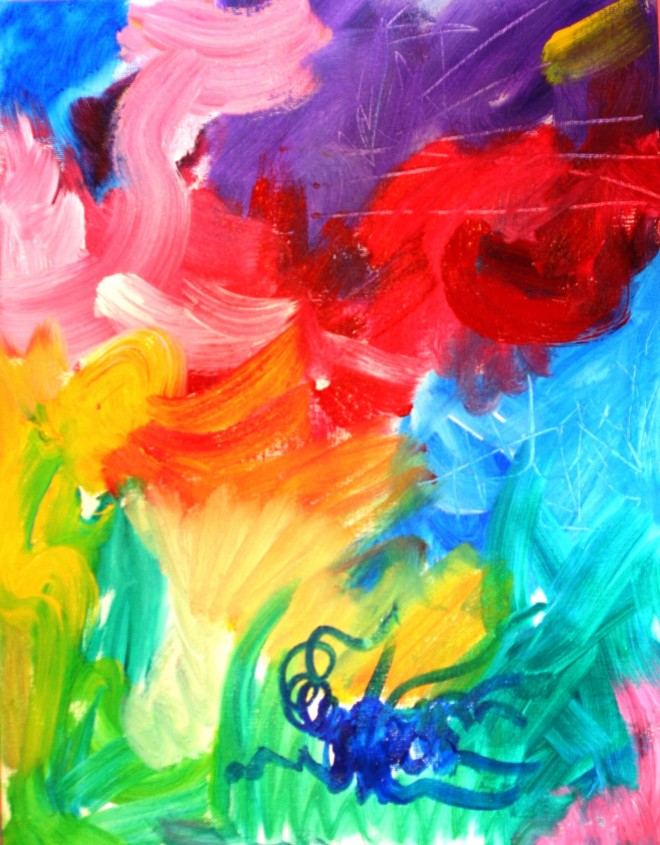 Abstract Art Challenges Children's Imaginative Vision