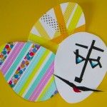 Creative Fun Making Easter Eggs Artfully Decorated with Washi Tape