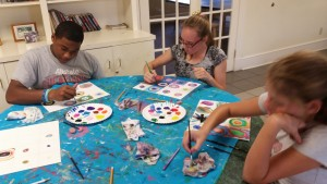 Brantwood residents immerse in art, learning about artists, art forms & styles and painting while expressing their own interpretation of the material!