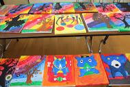 Lots of beautiful student art creations!