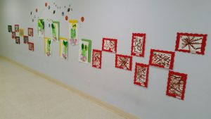 Abrakadoodle-Northern Virginia student art on display for an Art Show.