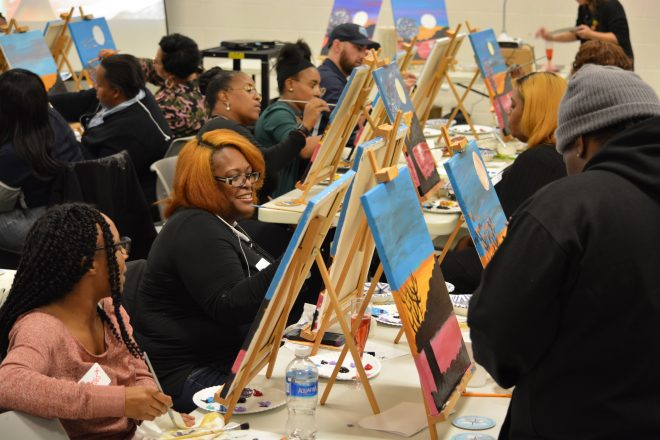 "Student-Inspired ""Painting with Parents"" Event Celebrates Community, Achievement"